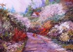 a walk in springtime by george gallo painting