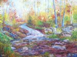 river in spring by george gallo acrylic paintings