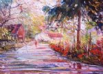 river road by george gallo acrylic paintings
