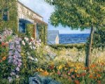 seaside garden by george gallo acrylic paintings