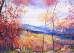 smugglers notch by george gallo acrylic paintings