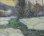 trout stream by george gallo painting