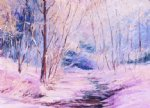 winter creek by george gallo painting