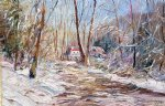 winter sunlight by george gallo painting
