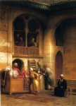 rug bazaar cairo by george henry hall painting