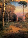 george inness art - early moonrise florida by george inness