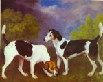 george stubbs hound and bitch in a landscape paintings