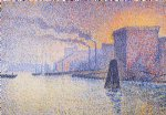 georges lemmen original paintings - factories on the thames by georges lemmen