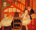 family gathering in saint by georges lemmen painting