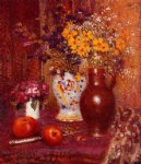 flowers and apples by georges lemmen painting