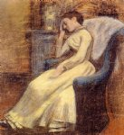 georges lemmen julie lemmen sleeping in an armchair print