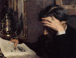 georges lemmen famous paintings - man reading by georges lemmen