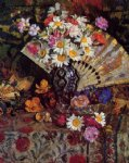 still life with fan by georges lemmen painting