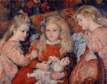 georges lemmen artwork - three little girls by georges lemmen