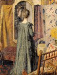 georges lemmen artwork - woman standing in front of the mirror by georges lemmen