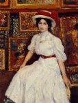 georges lemmen artwork - young girl in white by georges lemmen