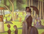 a sunday on la grande jatte detail by georges seurat painting