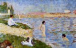 bathers in the water by georges seurat prints