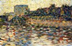 courbevoie landscape with turret by georges seurat prints