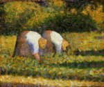 georges seurat farm women at work paintings