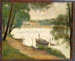 georges seurat original paintings - gray weather grande jatte by georges seurat