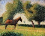 georges seurat horse and cart painting 33532