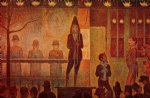 invitation to the sideshow by georges seurat painting