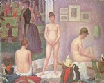 georges seurat famous paintings - les poseuses by georges seurat