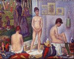 georges seurat famous paintings - models small version by georges seurat