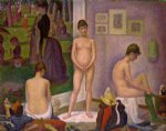georges seurat famous paintings - models by georges seurat