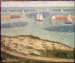 georges seurat original paintings - port by georges seurat