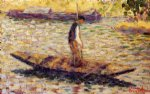 georges seurat original paintings - riverman by georges seurat