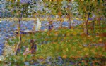georges seurat original paintings - sailboat by georges seurat