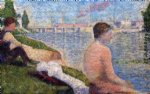 georges seurat original paintings - seated bather by georges seurat