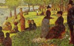 georges seurat famous paintings - sketch with many figures by georges seurat