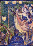 georges seurat famous paintings - study for chahut ii by georges seurat