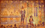 georges seurat study for invitation to the sideshow painting