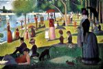 sunday afternoon on the island of la grande jatte by georges seurat painting
