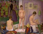 the models by georges seurat painting