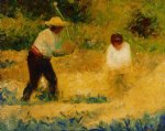 georges seurat famous paintings - the stone breaker ii by georges seurat