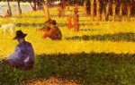 georges seurat white dog painting-33619