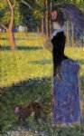 georges seurat woman with a monkey painting