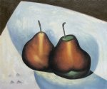 georgia o keeffe two pears painting