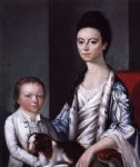 christian artwork - christian stelle banister and her son john by gilbert stuart
