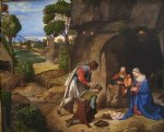 the allendale nativity adoration of the shepherds by giorgio barbarelli da castelfranco watercolor paintings