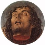 head of the baptist by giovanni bellini painting