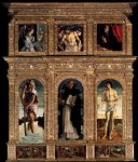 giovanni bellini acrylic paintings - polyptych of san vincenzo ferreri by giovanni bellini