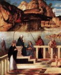 giovanni bellini acrylic paintings - sacred allegory detail ii by giovanni bellini