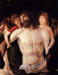 the dead christ supported by two angels by giovanni bellini painting