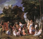 giovanni bellini acrylic paintings - the feast of the gods by giovanni bellini